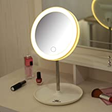 TOPWAY 990382 Travel Portable LED Makeup Mirror with Stand & Light White