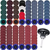 103 Pcs Sanding Discs Set 2 Inches Quick Change Disc with 1/4 inch Tray Holder for Die Grinder Surface Prep Strip Grind Polish Finish Burr Rust Paint Removal
