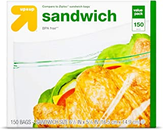 Sandwich Bags - 150ct - up&Up153; (Compare to Ziploc174; Sandwich Bags) Clear