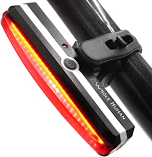Bright USB Rechargeable Bike Tail Light - IPX4 Weatherproof Bicycle Rear Lights - Red Cycling Road Safety Back Helmet Light For All Bicycles & Scooters - 6 Flashing & Constant Modes - 180° Visibility