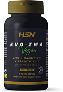 HSN EVO ZMA with B6 and 1000mg D-aspartic acid - 30 veg caps | Boosts Muscle Growth and Strength | Improves endurance, rec...