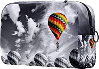 Makeup Bag Toiletry Bag for Women Fire Balloon Skincare Cosmetic Handy Pouch Zipper Handbag