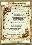 Die Staffelei Geschenk Karte Urkunde Geschäftseröffnung, Zeichnung mit humorvollem Gedicht, A4 Bild-Präsent zur Firmengründung, Ladeneröffnung, persönlich durch Wunschtext