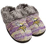 NFL Minnesota Vikings Womens Peak Slide Slippers, Team Color, Small (5-6)