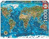 Educa Maravillas del Mundo. Puzzle de 1000 Piezas. Ref. 19022, Multicolor