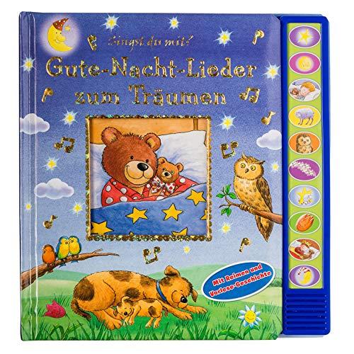 Gute-Nacht-Lieder zum Träumen - Vorlese-Pappbilderbuch mit 10 Melodien für Kinder ab 3 Jahren