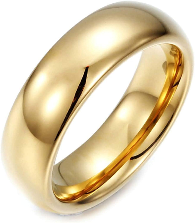 Epinki Tungsten Steel Men Wedding Plain Max 55% OFF Ring Max 44% OFF Gold Band Bands