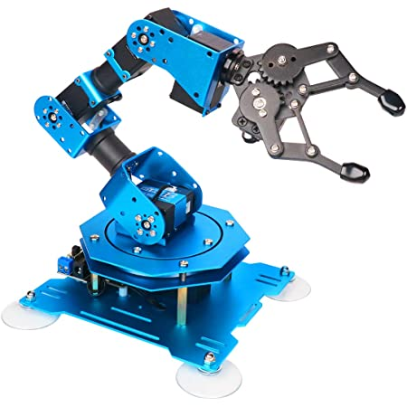 xArm 1S Robotic Arm 6DOF Full Metal Programmable Arm with Feedback of Servo Parameter, Wireless/Wired Mouse Control, Mobile Phone Programming