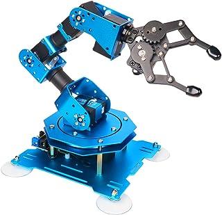 LewanSoul xArm 6DOF کامل فلزی قابل برنامه ریزی بازوی روباتیک با بازخورد از پارامتر سرو، کنترل بی سیم / سیمی ماوس، برنامه نویسی تلفن همراه برای Ardino خراش