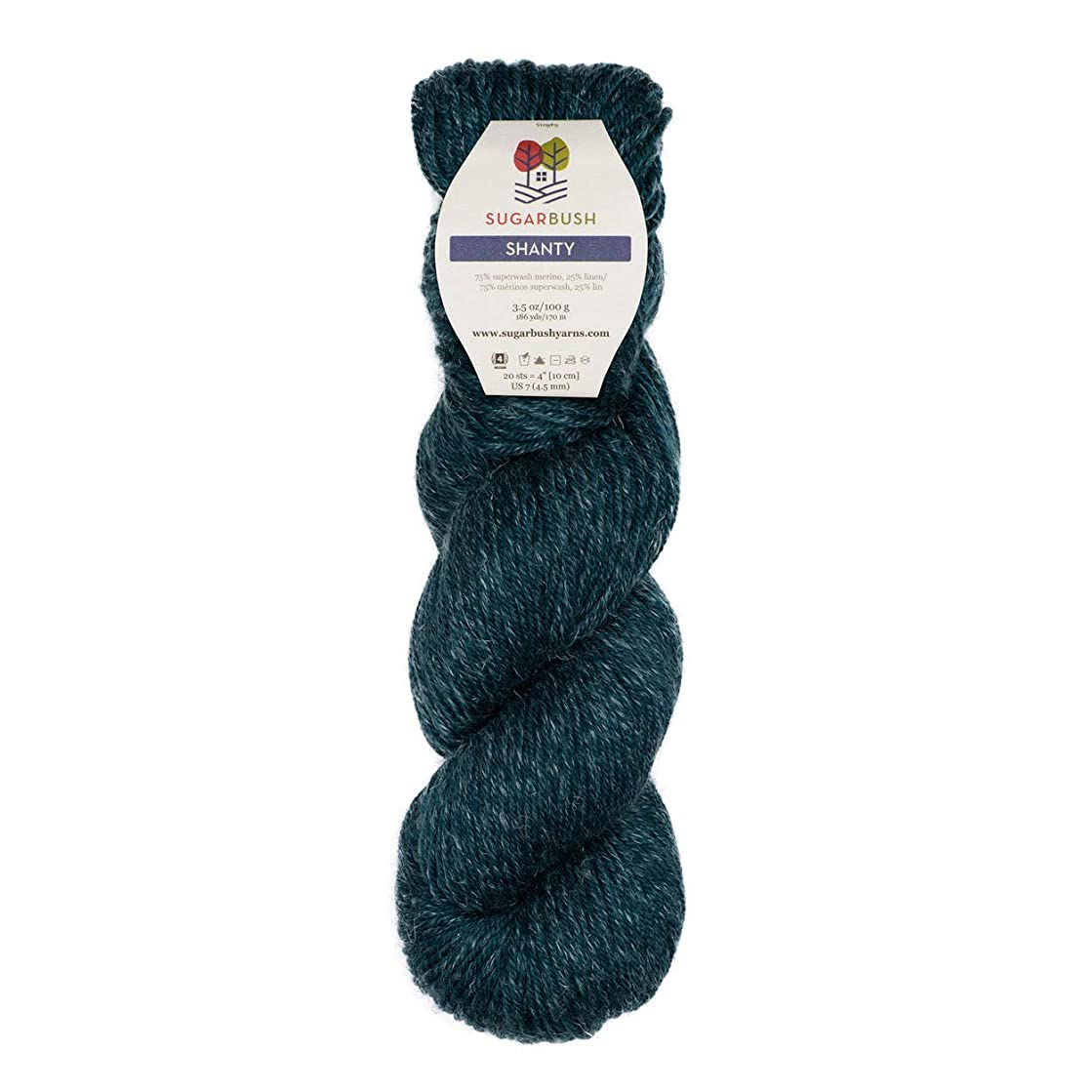 Sugar Bush Yarns 6480151509P10 Shanty Yarn 100g Sea Glass