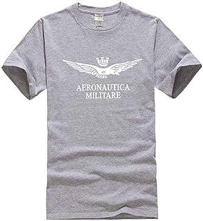 Aeronautica Militare Men's Men's Casual Short Sleeve Henley T-Shirts Cotton Shirts