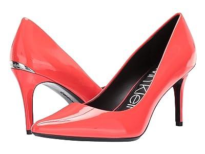 Calvin Klein Gayle Pump (Pink Fluorescent Patent) High Heels