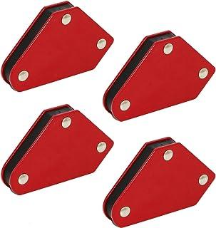 Bisou 4-Piece Magnetic Welding Holder, 9 LBS Strength Strong Weld Magnet, 45° 90° 135° Corner Magnet, for Holder and Positioner in Welding, Soldering