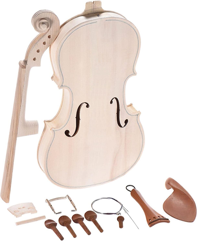 Cuerpo Guitarra Kit De Violín DIY 4/4 De Tamaño Completo, Violín Acústico De Madera Maciza Natural con EQ, Tapa De Abeto, Diapasón De Arce Trasero, Cordal Nuevo Kits Guitarra Bricolaje (Color : 2)