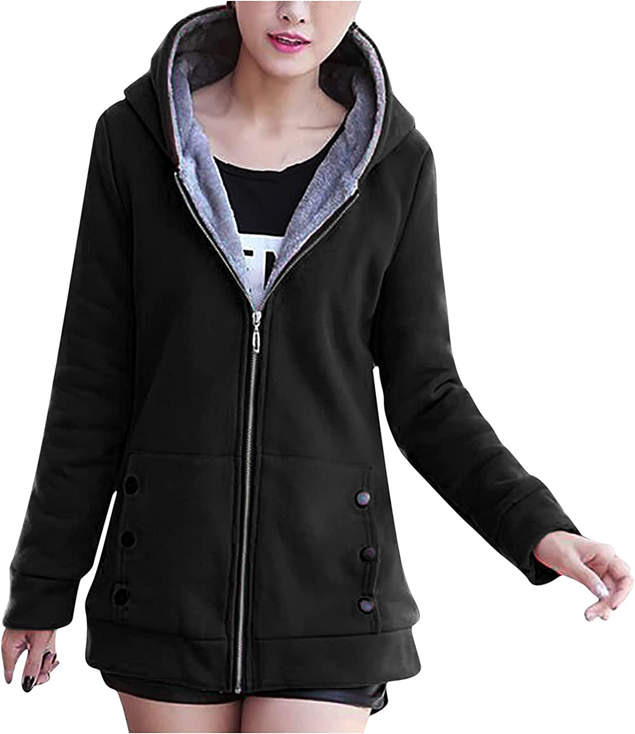 Women Hooded Coat Winter Comfy Warm Jacket So Ranking TOP8 Thicken Velet Plus All items free shipping