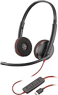 Plantronics Fone de ouvido Blackwire 3220 USB-C, fone de ouvido mono supra-auricular, com fio