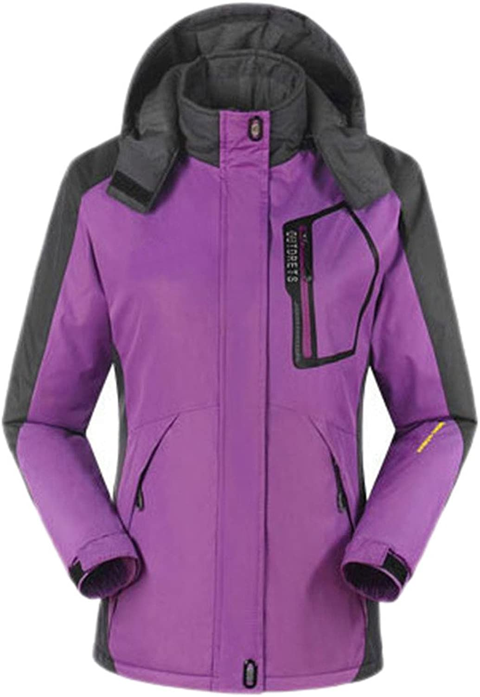 Geval Women's Hooded Fleece Mountain Skiing Jacket