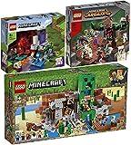 BRICKCOMPLETE Lego Minecraft 21155 Die Creeper Mine, 21172 Das Destrute Portal & 21176 Die Jungle Ungeheuer - Juego de 3