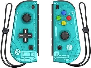 SHHAO Joy-Con - Controlador de juego, mango de vibración somatosensorial para mano izquierda y derecha, control inalámbrico para uso de interruptor/interruptor, color verde transparente