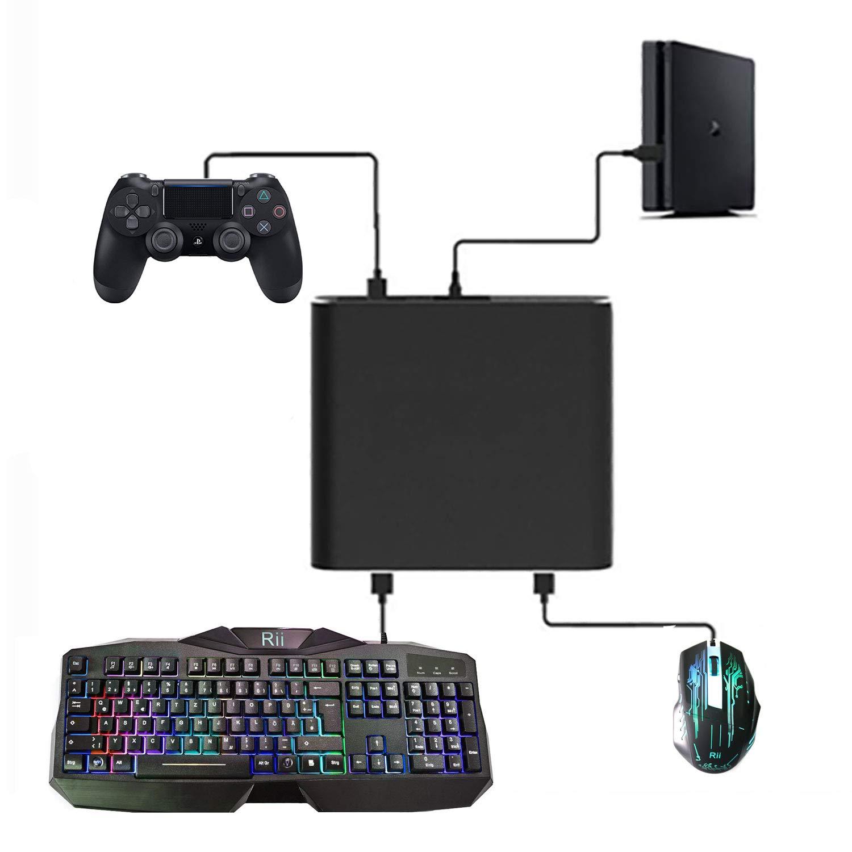 J&TOP - Adaptador de Teclado y ratón para Playstation 4 y Nintendo Switch/Xbox One: Amazon.es: Electrónica
