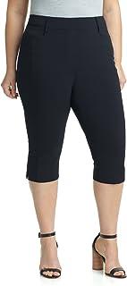 Rekucci Women`s Ease in to Comfort Curvy Fit Plus Size Capri w/Tummy Control