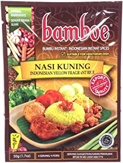 Bamboe Bumbu Untuk Nasi Kuning 50gr - Indonesian Yellow Fragrant Rice - Nasi Kuning (Pack of 1)