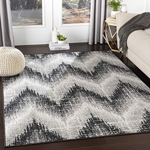 Artistic Weavers Angelo Moderner Chevron-Teppich, 70 x 70 cm, Schwarz