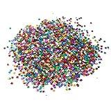 Huture Confeti Estrella Tabla Confeti Estrellas de Lámina Metálica Brillo Resplandeciente Lentejuelas De Hoja de Metal de Confeti de Papel para la Decoración de la Boda del Cumpleaños 30g/1oz