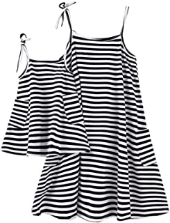Parent-Child Striped Shirt Dress Family Clothes Outfits …