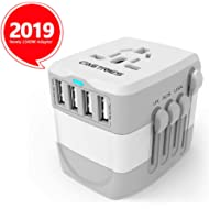 Castries European Adapter,2300W high Power Travel Adapter with 4 USB Charging Ports for...