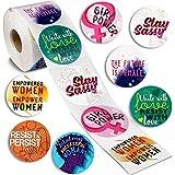 Feministische Aufkleber von Paper Junkie (500 Stück) – Runde Statement-Sticker mit verschiedenen Zitaten