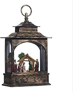 "Raz Imports 11"" Nativity Lighted Water Lantern"