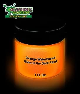 1 oz Glow in The Dark Body Paint for Halloween - Glow Make-up Bodypainting - Orange