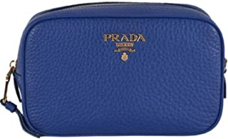 Contenitore Royal Blue Vitello Daino Leather Vanity Case 1ND007 (Blue)
