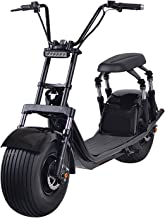 2000W Electric Moped Fat Tire Scooter with Front/Rear Shocks, Dual Disc Brakes One Button Start Electric Fat Tire Motor Bi...