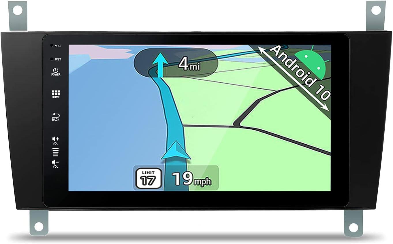 YUNTX Android 10 2 DIN Autoradio For Mercedes-Benz C / CLK W203 W209 -8 Pulgadas - Gratis Cámara Trasera - Soporte Dab / GPS / Mandos de Volante / CarPlay / WiFi / Bluetooth 5.0 /MirrorLink