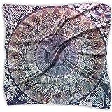Waiting Bliss Mandala Pañuelo unisex multifuncional, pañuelo cuadrado de seda para diadema, envoltura, cobertura protectora 60,96 x 60,96 cm