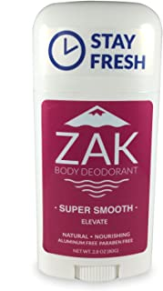 Smooth Natural Deodorant By ZAK Body Care - Aluminum Free, No Parabens, (Women's Elevate)