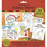 """Measures 8 1/2"""" x 11"""" 31 activity paper sheets per pack Features coloring book with activity pages and answer keys Ideal for Thanksgiving party and school activities"""