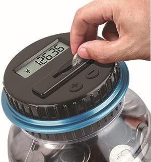 Sannysis Clear Digital Piggy Bank, Coin Savings Counter LCD Counting Money Jar Change Gift
