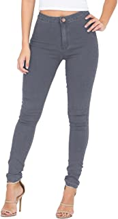 ESDAMIER Women's High Waist Butt-Lifting Skinny Jeans Elastic Pencil Jeggings Pants