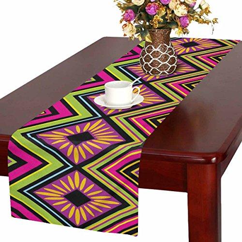 Zenzzle - Camino de Mesa, 40,6 x 182,8 cm, Estampado con Colorido Zigzag...