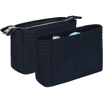NOTAG Taschenorganizer f/ür Handtaschen X-S, Khaki Filz Handtasche Tasche Organizer f/ür Tote mit Griff