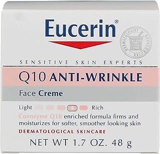 كريم العناية بالبشرة كيو-10 لبشرة الوجه الحساسة، كريم مقاوم للتجاعيد للبشرة الحساسة من يوسيرين