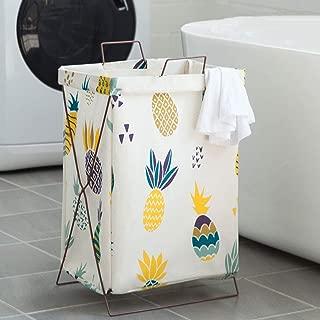 MLMHLMR Linen Creative Gift Basket Folding Hamper Basket Garden Laundry Basket Cloth Dirty Clothes Toy Storage Basket 69x56x40cm Laundry Basket
