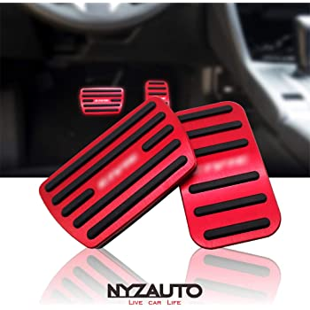 Set of 2 DEDC Gas /& Brake Foot Pedal Pads Covers Non-Slip Performance Pedal Pads Aluminum Pedal Covers for Tesla Model 3