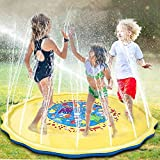 XiZiMi Inflatable Water Sprinkler Pad Splash Pad Play Mat Sprinkler Garden Toys para ni?os Sprinkler y Splash Play Mat Water Outdoor Toys Juego para ni?os Peque?os Ni?os Ni?as Ni?os 170cm Blue