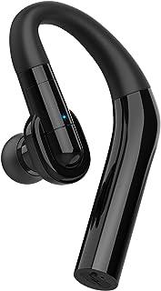 Auriculares Bluetooth V5.0 para negocios inalámbricos manos libres con micrófono, 15 horas de conversación 240 horas de tiempo en espera, auriculares inalámbricos Bluetooth para iPhone, Samsung, Android, portátil, conductores de camioneros
