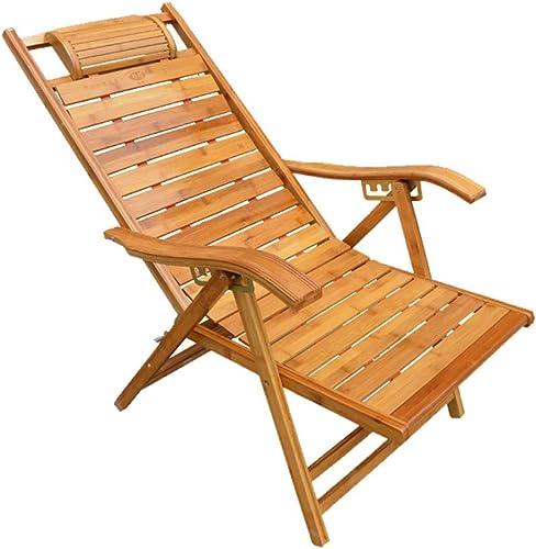 varios tamaños Plegable Lunch Break Lounge Chair Bamboo Recliner Old Man Nap Nap Nap Silla Mecedora Adult Back Chair Cool Chair Nap Lounge Chair ( Color   Ordinary )  nueva gama alta exclusiva