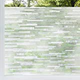 rabbitgoo Privacy Window Film Frosted Matte Window Sticker Static Cling Door Film No Glue Glass Film Window Sticker Anti-UV Glass Film for Home Office Living Room Meeting Room(17.5' x 78.7')